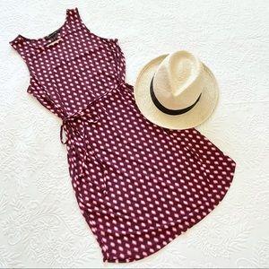 Banana Republic Sleeveless Print Tie Waist Dress